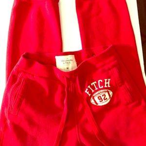 Abercrombie & Fitch athletic cotton sweat pants